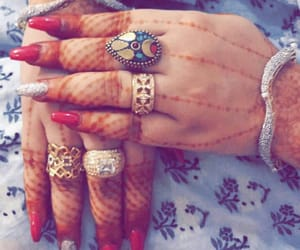 red nails, nailpaint, and lovely hands image