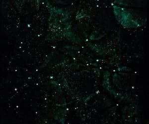 green, aesthetic, and stars image