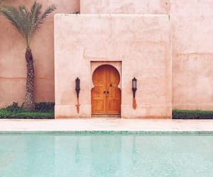 pink, pool, and place image