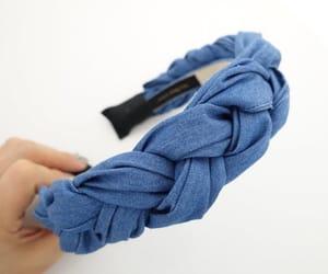 braided headband, denim braid headband, and braid hairband image