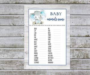 etsy, baby boy shower, and baby shower activity image