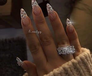 nails, glitter, and diamond image