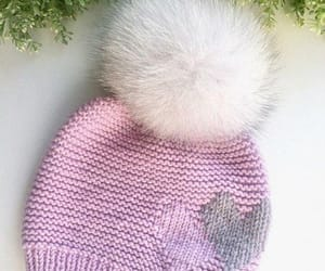 pink, hat, and knit image