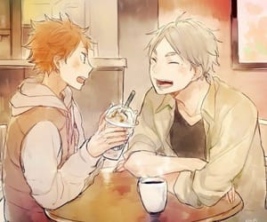 haikyuu, hinata shouyou, and sugawara image