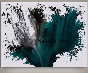 abstract art, Oil Painting, and turquoise image