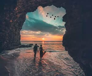 sky, travel, and couple image