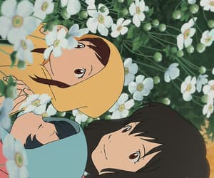 ame, anime, and flowers image