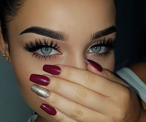 eyes, nails, and beauty image