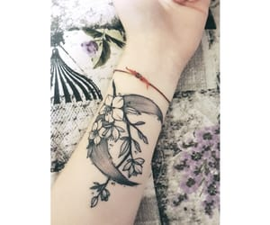 aesthetic, tattoo, and flowers image
