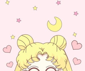 sailor moon, pink, and wallpaper image