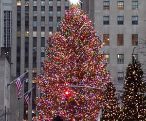 christmas tree, new york, and rockfeller center image