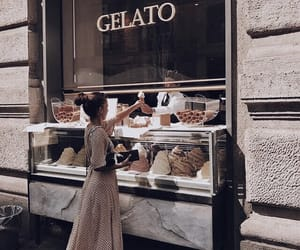 fashion, food, and ice cream image