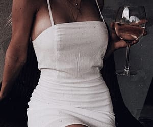 dress, drink, and wine image