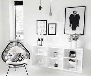 white, room, and home image