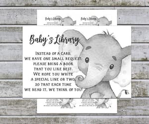 etsy, boy baby shower, and baby shower inserts image