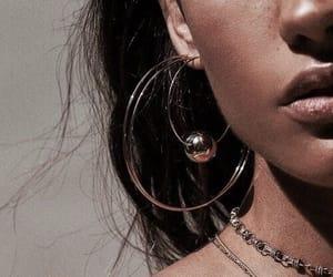 girl, style, and earrings image