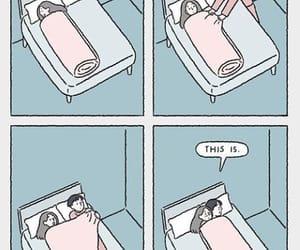 amor, cama, and parejas image