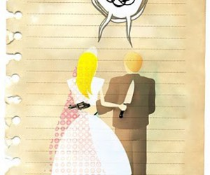 divorce, funny, and illustration image