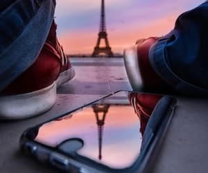 france, paris, and tower image