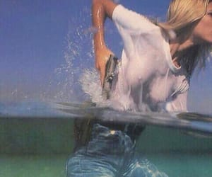 blonde, water, and girl image