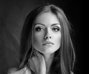 beauty, black and white, and sexy image
