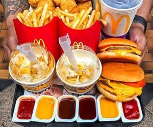 food, fast food, and burger image