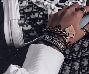 bracelets, dior, and hightops image