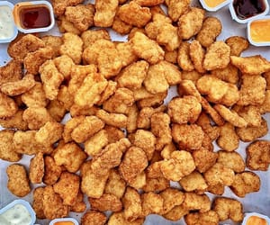 food and chicken nuggets image