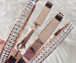 bracelets, gold, and jewelry image