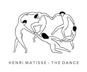 art, black and white, and henri matisse image