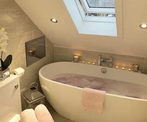 bath, bathroom, and luxury image