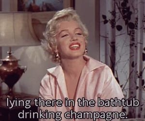 champagne, Marilyn Monroe, and old image