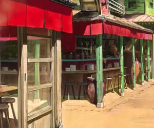 anime, restaurant, and cartoon image