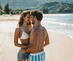 beach, couple, and Dream image