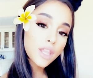 flower, gif, and ariana image