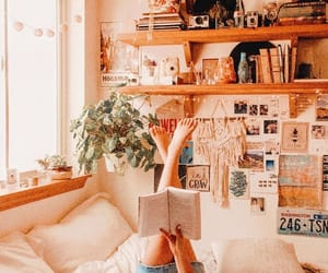 bedroom, retro, and bohemian image