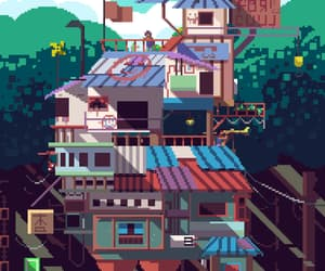fort, pixel, and gif image