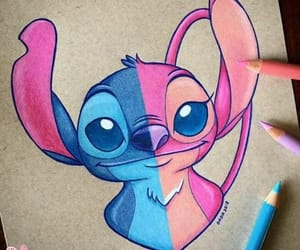 stitch, disney, and angel image
