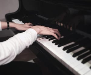 black, boy, and piano image