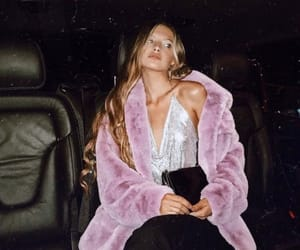 blonde, fashion, and faux fur image
