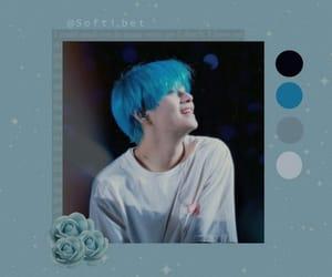blue, blue hair, and v image