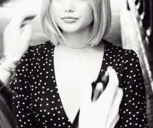 black and white, blonde, and bob haircut image