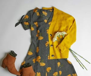 boots, dress, and flowers image
