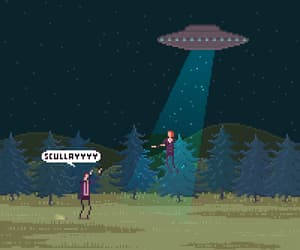 abducted, ufo, and alien image