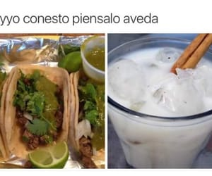 date, tacos, and horchata image