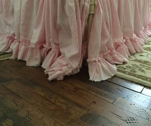etsy, washed linen bedding, and pink ruffled linens image