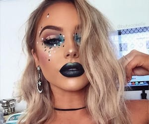 beautiful, girl, and sparkles image