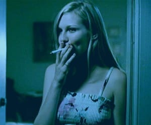 the virgin suicides, Kirsten Dunst, and cigarette image