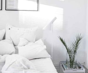 white, interior, and bed image