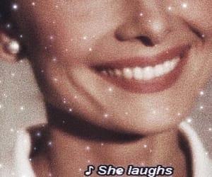 smile, audrey hepburn, and laugh image